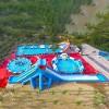 维护移动支架水池方法